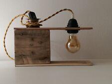 """Lampada """" jimi 02/11"""" in legno riciclato ideale per scrivanie tavoli e comodini."""
