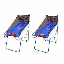 Lancaster Sports EZ-Fold 2 Player Traditional Arcade Basketball Game (2 Pack)