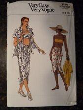 Vogue 9298 Misses Shirt, Skirt & Bra Original 1985 Pattern size 6/8/10 Cut
