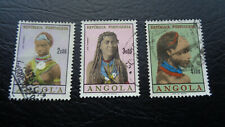 Angola, Stamps, 1955, African Colonial Arts, Tribal Woman, Konvolut 3 Marken