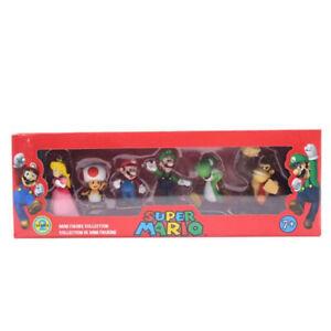AU 6pcs PVC Super Mario Bros.4 Series Game Action Figure Doll Toy Cake Topper