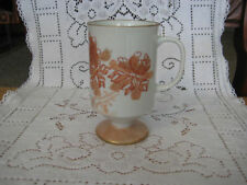 '76 X-mas Old Vintage Hand Painted Footed Mug By Jeanne