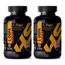 L-DOPA Extract powder 99% 350mg - 2 Bottles 120 Capsules