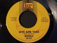 Mandala - Give And Take Mint Original Press 45 RPM KR kr-115 Record 1967 Psych