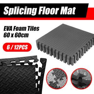 6/12/24PCS Interlocking Heavy Duty EVA Foam Gym Flooring Mat Floor Mats Tiles