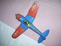 Old Vintage Hubley Kiddie Toy Cast Metal Air Force Airplane Folding Wings Parts