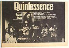 Quintessence 1971 Advert Concert Royal Albert Hall