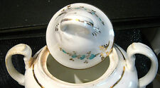 Pretty vintage style china sugar pot 6 footed approx 7ins tall