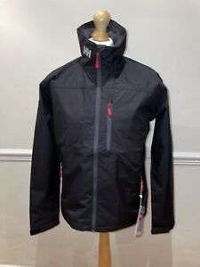 Helly Hansen Crew Shell Jacket 30263/990 Black NEW Rrp £125 Size Large FREE P&P