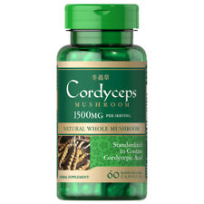 Cordyceps Sinensis Mushroom 1500mg 60 Caps - Cordycepic Acid by Puritan's