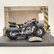 1/24 BMW R75 Motorcycle World War II 1939-1945 Black Diecast Model Collection