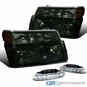04-12 Chevy Colorado GMC Canyon Smoke Headlights Signal Lamps+Clear 6-LED Fog