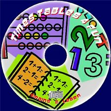 faire apprentissage Times Tables Fun Sing-Along 2x-12x Easy 2 Teach CD AUDIO 3-9