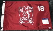 Zach Johnson 2007 US OPEN GOLF FLAG OAKMONT (PGA) AUTOGRAPHED SIGNED PSA/DNA