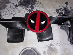 Deadpool Utility Belt with Metal Belt Buckle. Halloween Kids.