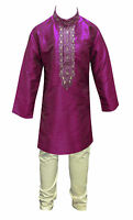 Boys Indian Pakistani kids wedding sherwani Kurta Churidar kameez EID 859 UK