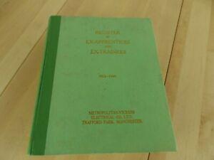 Register of Ex-Apprentices & Ex-Trainees Metropolitan-Vickers 3rd Ed w/ letter