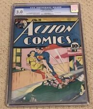 Action Comics 29 CGC 3.0 Pages (1st Lois Lane Cover from 1940!!)