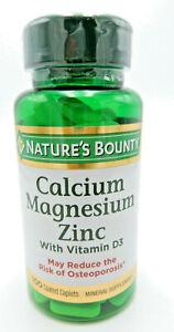 Nature`s Bounty Calcium Magnesium Zinc Tablets 100 Ct 074312042904YN