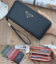 New Womens Girls Leather Wallet ID/Card Holder Zip Long Purse Mobile Handbag