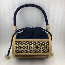 PM Japanese Miyabi Andon Bamboo Handbag Round Shape