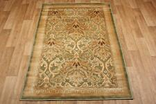 Antique Gold Green Silk Like Traditional Oriental Persian Rug 110x170cm 60 off