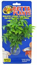 Zoo Med Papaya Betta Plant Aquarium Sucker Mounted Fake Plastic Plant