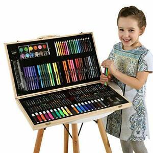 Wood Art Drawing Set Art Supplies For Kids,Teens & Adults 180 Pcs Color Gift Set