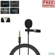 Clip-on Mini Mic Microphone 3.5mm Lavalier Lapel For Mobile Phone PC Recording