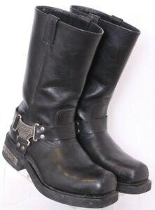 Harley-Davidson 91345 Square Toe Pull-On Leather Harness Biker Boots Men's 9.5