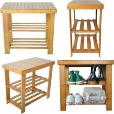 WOOD Shoes Storage Organizer Box Cabinet With Door Bench For Living Room Vintage