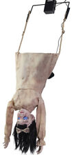 HALLOWEEN ANIMATED SWINGING HEAD FIRST DOLL GIRL  PROP DECORATION HAUNTED HOUSE