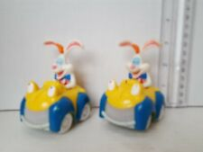 """DISNEY WHO FRAMED ROGER RABBIT 3"""" PLASTIC TOY CAR Lot of 2- Fast Shipping"""