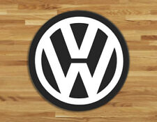 Glass Chopping board 30cm diam VW, volkswagen logo design choice of colours