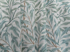 William Morris Curtain Fabric 'Willow Boughs' 3.8 METRES (380cm) Green Voile