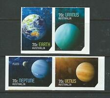 AUSTRALIA 2015 OUR SOLAR SYSTEM SELF ADHESIVE SET OF 4 UNMOUNTED MINT