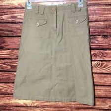SITWELL ANTHROPOLOGIE Women's Skirt Size 6 tan calf length with pockets