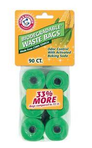Arm & Hammer Biodegradable Waste Bag Refills 90Ct