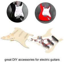 Cream Yellow Guitar Prewired Loaded Pickguard For Fender Stratocaster Parts SSS