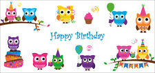 Divertidos Tarjeta de cumpleaños con dulce Búhos + Sobre ideal para los niños