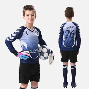 Giamfit MJ802 Soccer Goalkeeper GK Jersey with Shorts Long Sleeve for Kids Youth