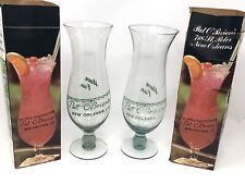 Lot Of 2 Vintage Pat O'Brien's Hurricane Glass In Box New Orleans LA Souvenir