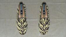 "RARE! Mens $495 Stubbs & Wootton Needlepoint ""ZEBRA PRINT"" Loafers Slippers Shoe"