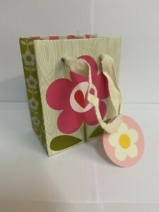 204 PINK FLOWER FLORAL SMALL GIFT BAGS SHOP STALL BOUTIQUE 13.5 x 11 x 7cm NEW