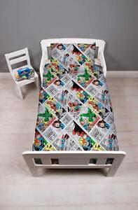 Disney Marvel Comics 'Retro' Junior Toddler Bundle 4 in 1 To Fit Cot Bed New