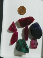 Fake Mineral Specimens 401 Carats Total Weight Ruby Emerald Tanzanite