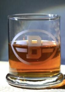 Etched Whiskey glassware Brown's Stackable Great Gifts 12 Oz