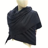 Cashmere Company Sciarpa Donna Nero Scialle Coprispalle Lana Cashmere Stola 040