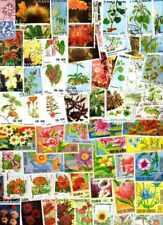 Flore Fleurs - Flora Flowers 2000 timbres différents oblitérés