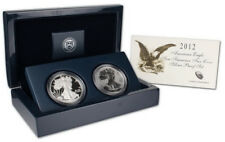 2012 S US Mint 75th Anniversary American Eagle Silver Proof & Reverse Proof Set